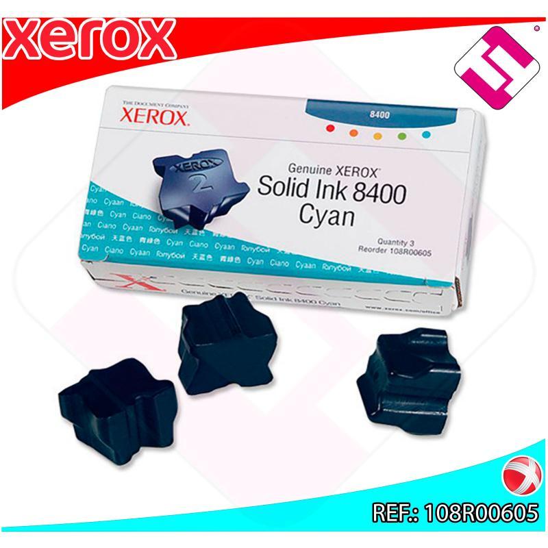 XEROX CARTUCHO TINTA SOLIDA CIAN 3 BARRAS PHASER 8400