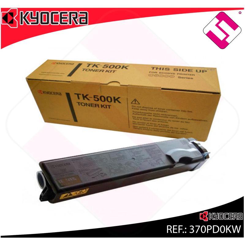 KYOCERA-MITA TONER LASER NEGRO TK500K 8.000 PAGINAS FSC/5016