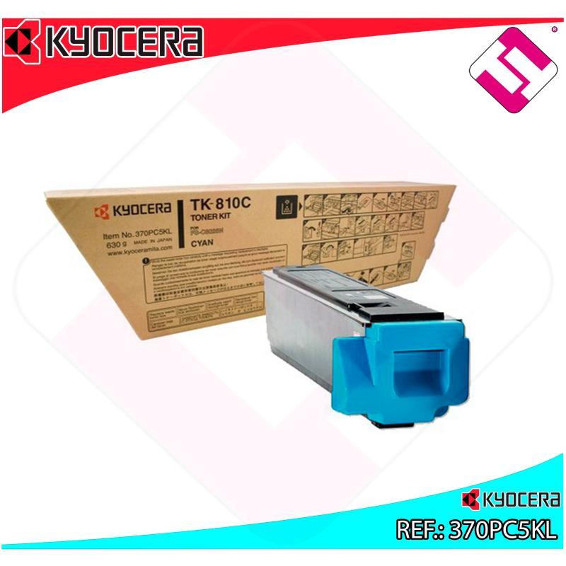 KYOCERA-MITA TONER LASER CIAN TK810C 20.000 PAGINAS FSC/8026