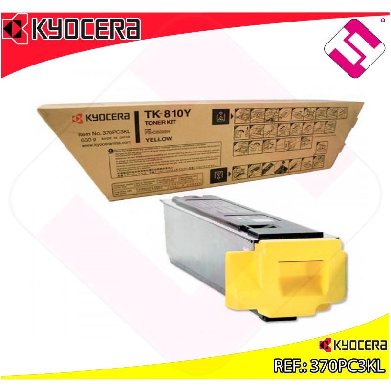 KYOCERA-MITA TONER LASER AMARILLO TK810Y 20.000 PAGINAS FSC/