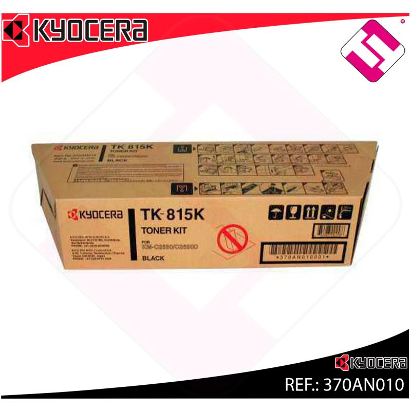 KYOCERA-MITA TONER COPIADORA NEGRO TK815K 20.000 PAGINAS KM/