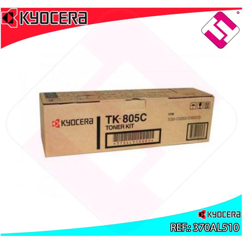 KYOCERA-MITA TONER COPIADORA CIAN TK805C 10.000 PAGINAS KMC/