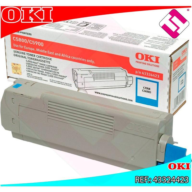 OKI TONER LASER CIAN 5.000 PAGINAS C/5800/5900/5550MFP