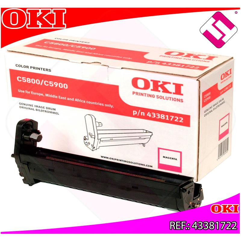 OKI TAMBOR LASER MAGENTA C8 20.000 PAGINAS C/5800/5900/5500