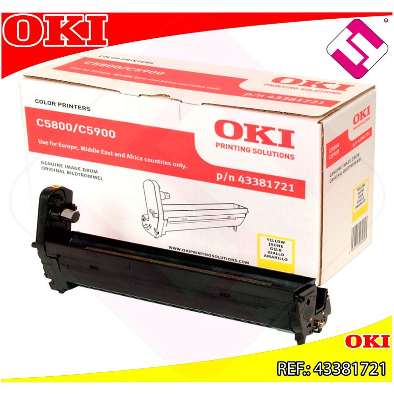 OKI TAMBOR LASER AMARILLO C8 20.000 PAGINAS C/5800/5900/5550