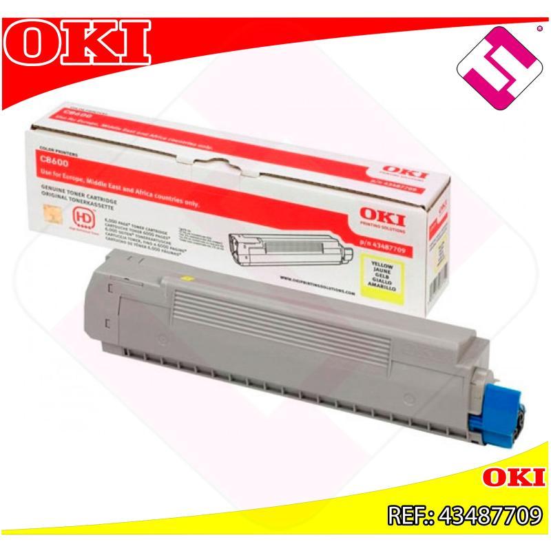 OKI TONER LASER AMARILLO 6.000 PAGINAS C/8600/8800