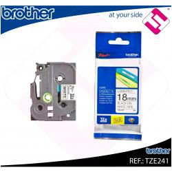 BROTHER CINTA ROTULADORA LAMINADA NEGRO/BLANCO 8M 18MM/200/2