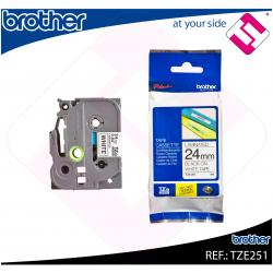 BROTHER CINTA ROTULADORA LAMINADA NEGRO/BLANCO 8M 24MM/200/2