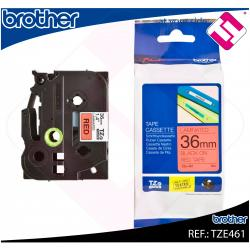 BROTHER CINTA ROTULADORA LAMINADA NEGRO/ROJO 8M 36MM