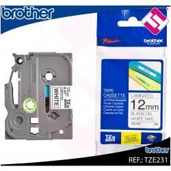 BROTHER CINTA ROTULADORA LAMINADA NEGRO/BLANCO 8M 12MM P-TOU