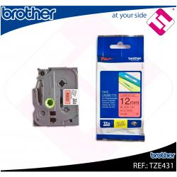 BROTHER CINTA ROTULADORA LAMINADA NEGRO/ROJO 8M 12MM