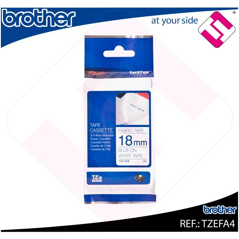 BROTHER CINTA ROTULADORA ESPECIALES TEXTIL/AZUL 3M 18MM