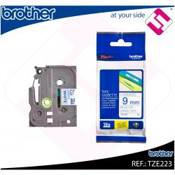 BROTHER CINTA ROTULADORA LAMINADA AZUL/BLANCO 8M 9MM