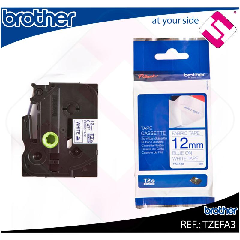 BROTHER CINTA ROTULADORA ESPECIALES TEXTIL/AZUL 3M 12MM