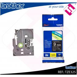 BROTHER CINTA ROTULADORA LAMINADA NEGRO/BLANCO 8M 9MM/PT-195