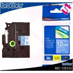 BROTHER CINTA ROTULADORA LAMINADA AZUL/BLANCO 8M 12MM