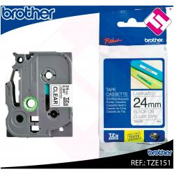 BROTHER CINTA ROTULADORA LAMINADA TRANSPARENTE/NEGRO 8M 24MM