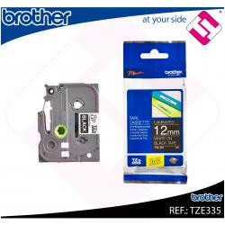 BROTHER CINTA ROTULADORA LAMINADA NEGRO/BLANCO 8M 12MM/PT-19
