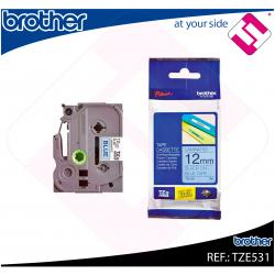 BROTHER CINTA ROTULADORA LAMINADA AZUL/NEGRO 8M 12MM