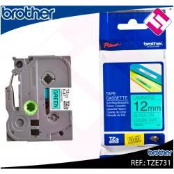 BROTHER CINTA ROTULADORA LAMINADA VERDE/NEGRO 8M 12MM