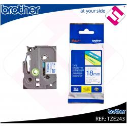 BROTHER CINTA ROTULADORA LAMINADA AZUL/BLANCO 8M 18MM