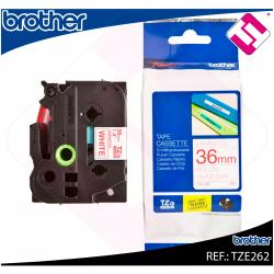 BROTHER CINTA ROTULADORA LAMINADA ROJO/BLANCO 8M 36MM