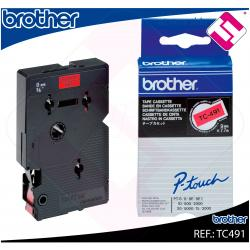 BROTHER CINTA ROTULADORA LAMINADA ROJO/NEGRO 7.7M 9MM P-TOUC