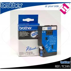 BROTHER CINTA ROTULADORA LAMINADA AZUL/BLANCO 7.7M 9MM/P-TOU
