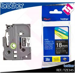 BROTHER CINTA ROTULADORA LAMINADA NEGRO/BLANCO 8M 18MM/PT-19