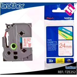 BROTHER CINTA ROTULADORA LAMINADA ROJO/BLANCO 8M 24MM