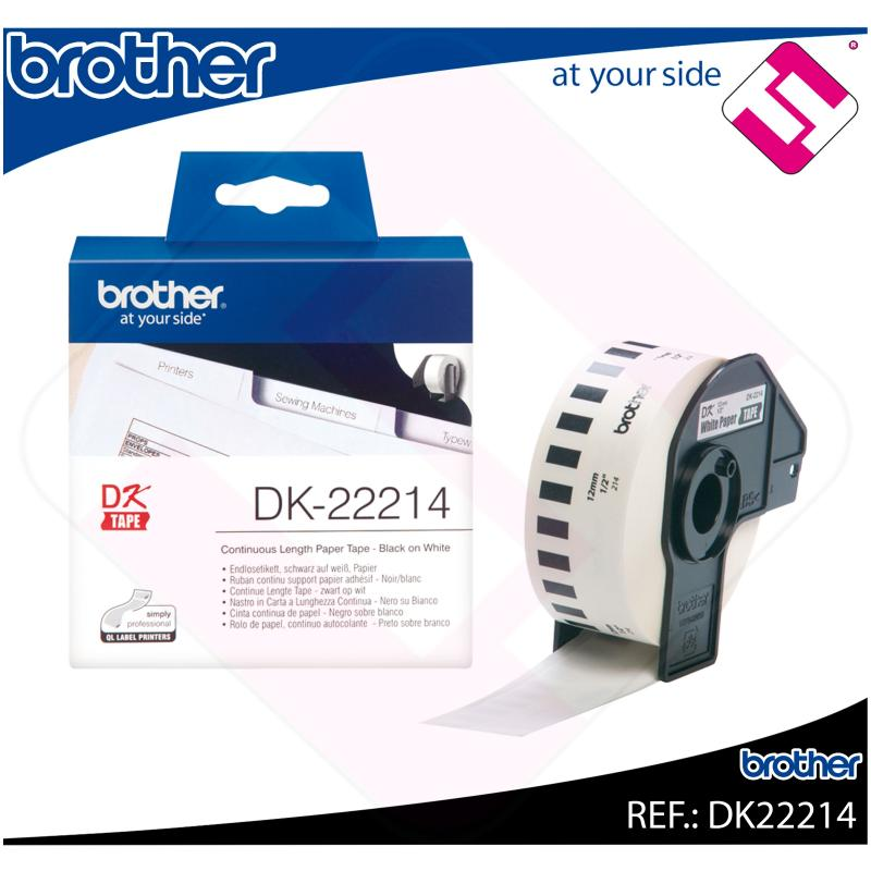 BROTHER CINTA CONTINUA BLANCA PAPEL 12MM 30.48M