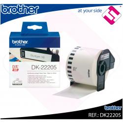 BROTHER CINTA CONTINUA BLANCA PAPEL 62MM 30.48M QL-/500/550