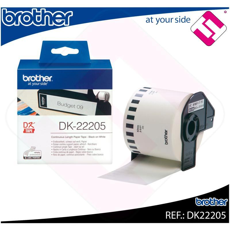 BROTHER CINTA CONTINUA BLANCA PAPEL 62MM 30.48M QL-/500/550
