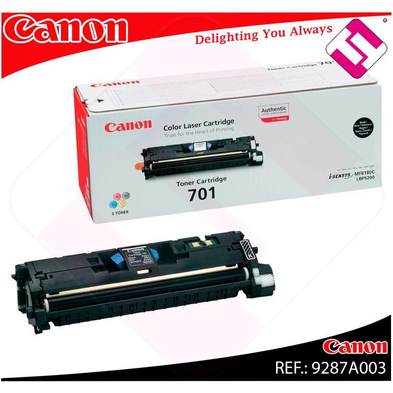 CANON TONER LASER NEGRO CRG701BK 5.000 PAGINAS LBP/5200 MF/8