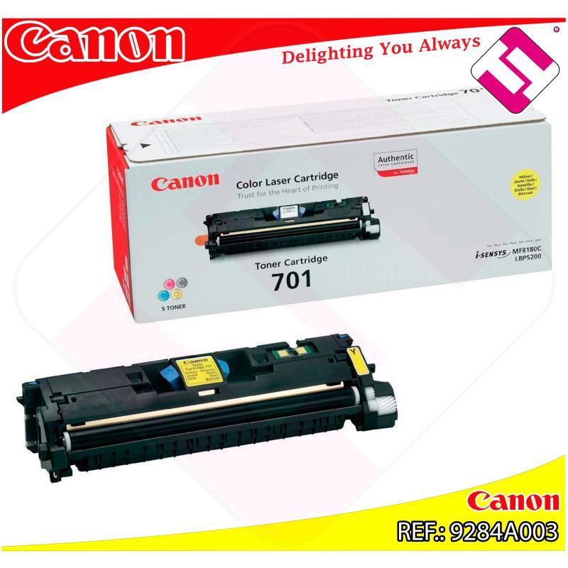 CANON TONER LASER AMARILLO CRG701Y 4.000 PAGINAS LBP/5200 MF
