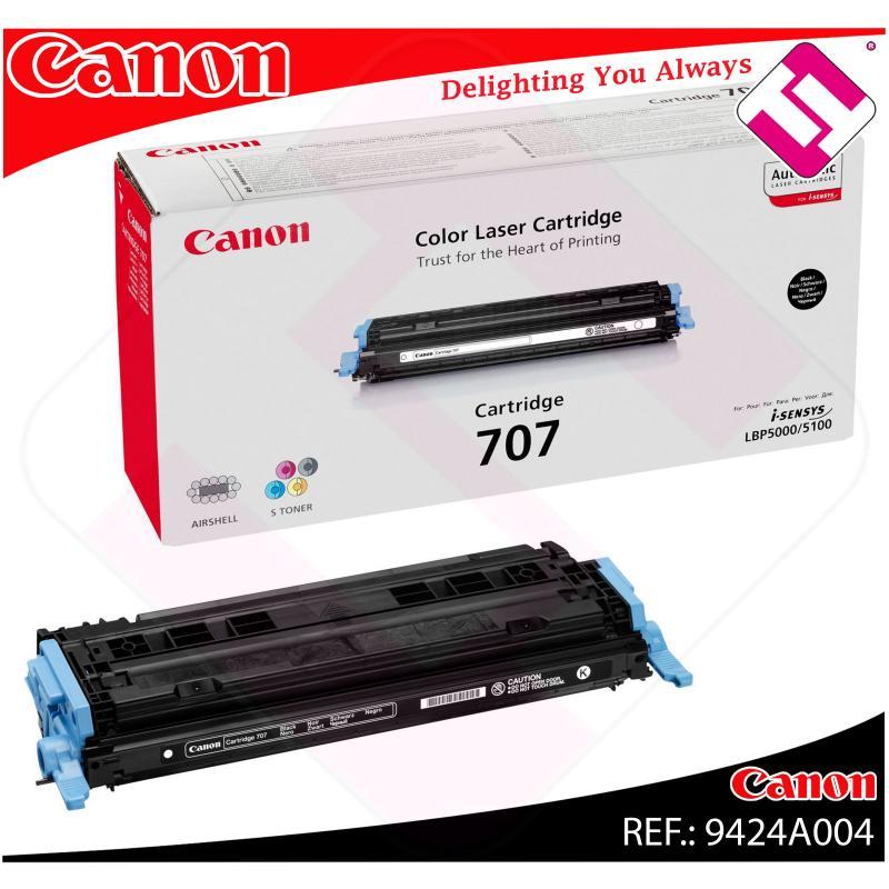 CANON TONER LASER NEGRO CRG707BK 2.500 PAGINAS LBP/5000/5100