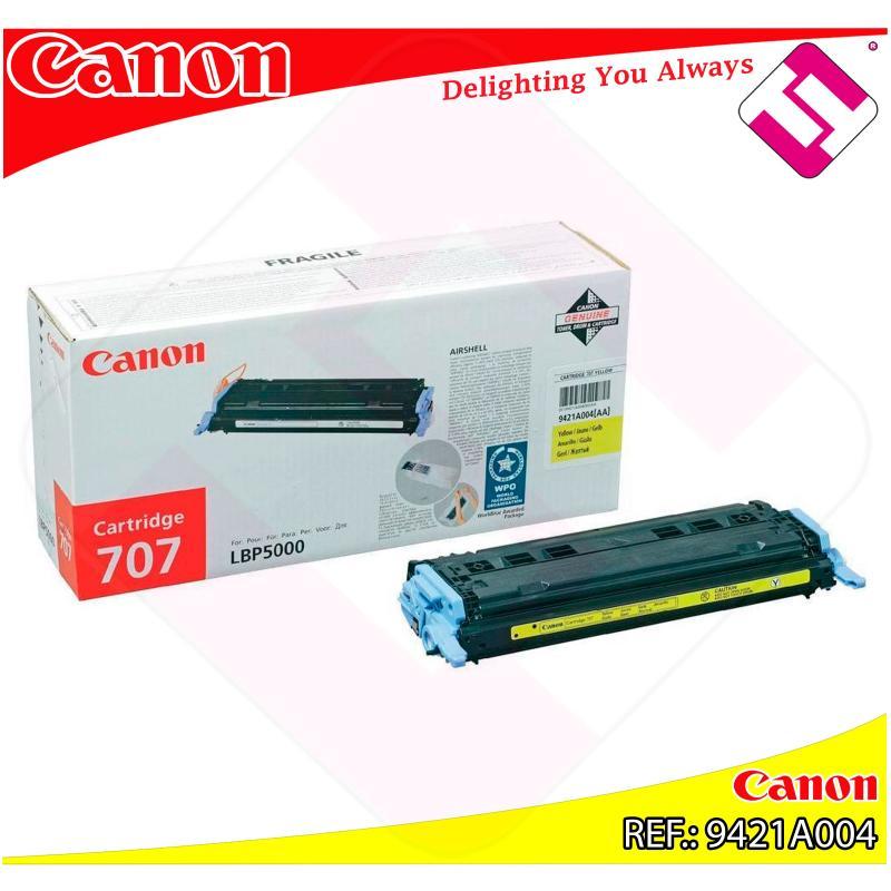 CANON TONER LASER AMARILLO CRG707Y 2.000 PAGINAS LBP/5000/51