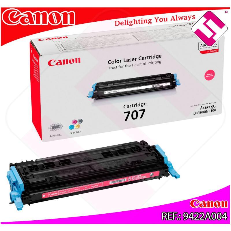 CANON TONER LASER MAGENTA CRG707M 2.000 PAGINAS LBP/5000/510