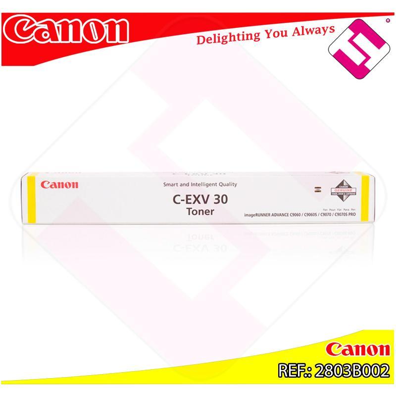CANON TONER CEXV30 AMARILLO 54K IR C9065.C9070.C9075