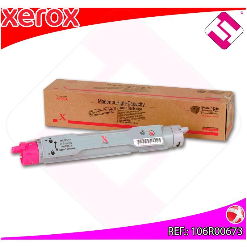 XEROX TONER LASER MAGENTA 8.000 PAGINAS PHASER/6250
