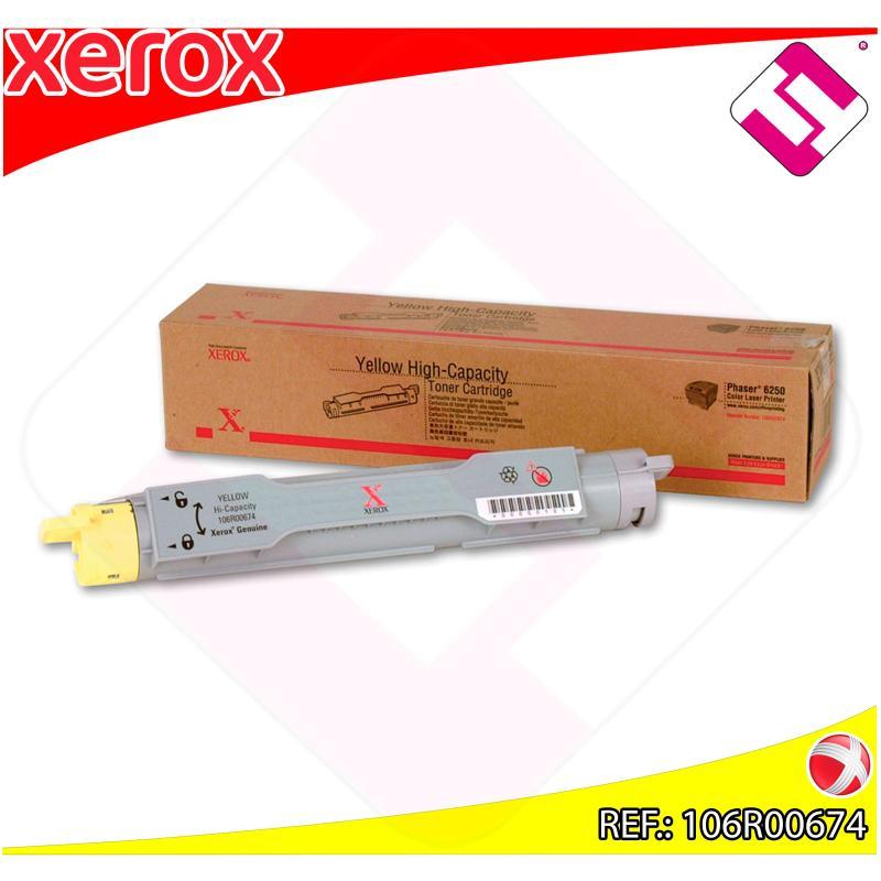 XEROX TONER LASER AMARILLO 8.000 PAGINAS PHASER/6250