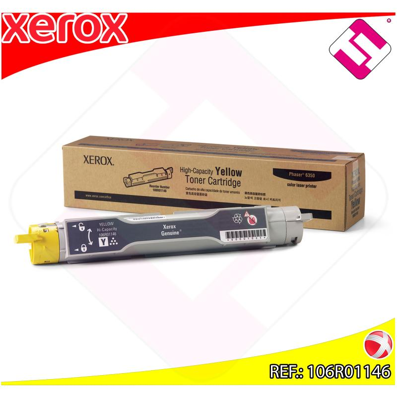 XEROX TONER LASER AMARILLO 6350DP ESXTINGUIR