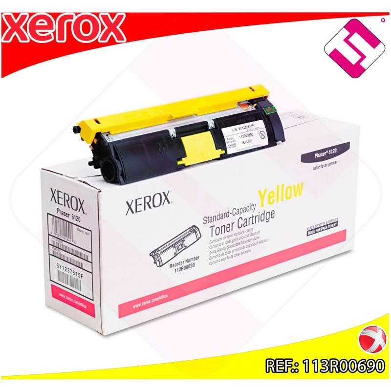 XEROX TONER LASER AMARILLO 1.500 P GINAS PHASER/6115MFP/6120