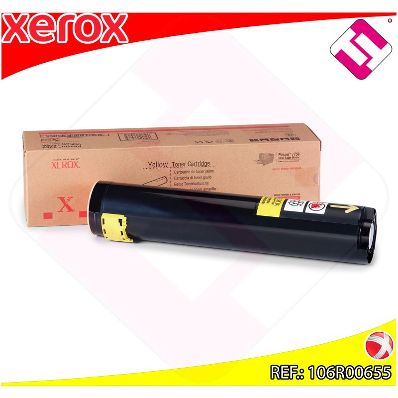 XEROX TONER LASER AMARILLO 22.000 PAGINAS PHASER/7750