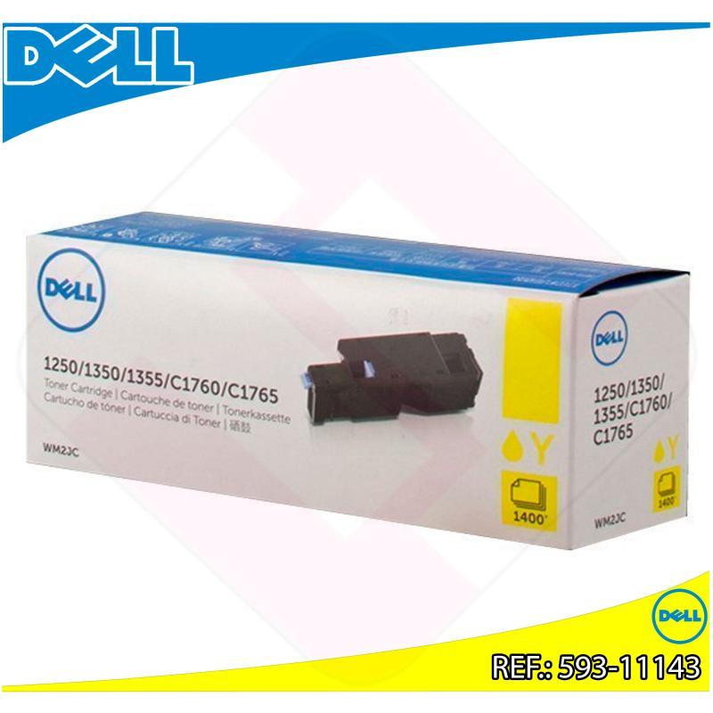 DELL TONER LASER AMARILLO W8X8P 1.400 PGINAS C/17XX/1250/13
