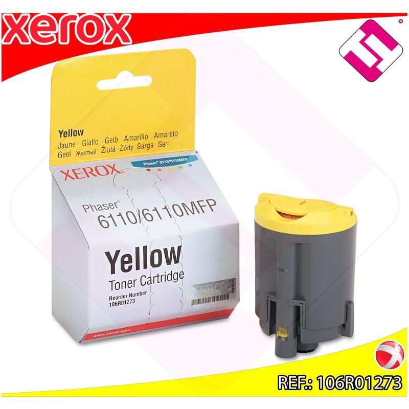 XEROX TONER LASER AMARILLO 1.000 P GINAS PHASER/6110/6110MFP