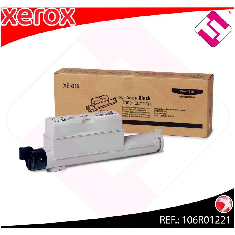 XEROX TONER LASER NEGRO 18.000 P GINAS PHASER/6360