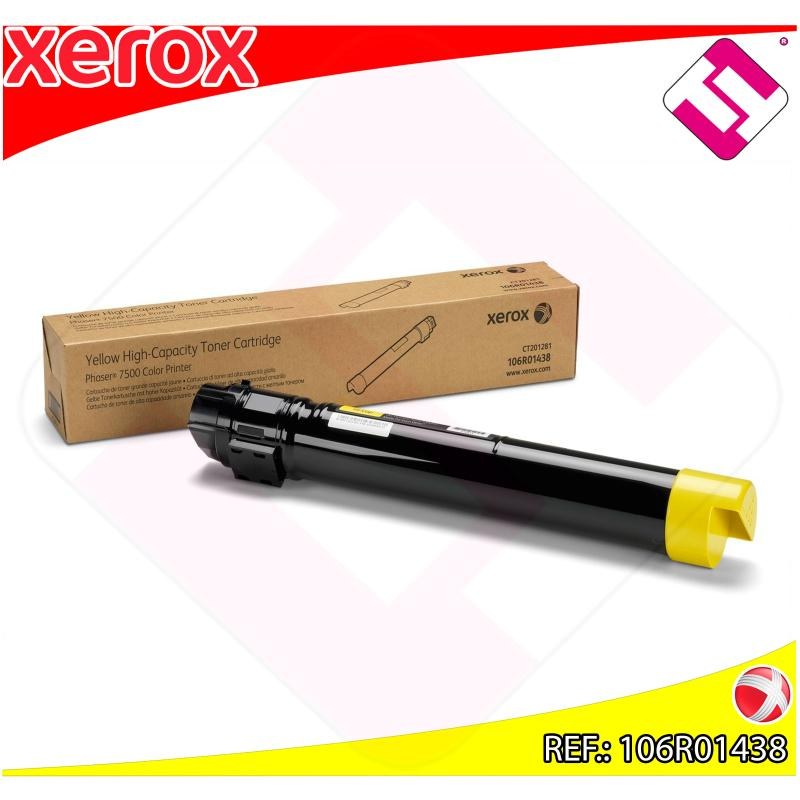 XEROX TONER LASER AMARILLO 17.800 PGINAS PHASER/7500