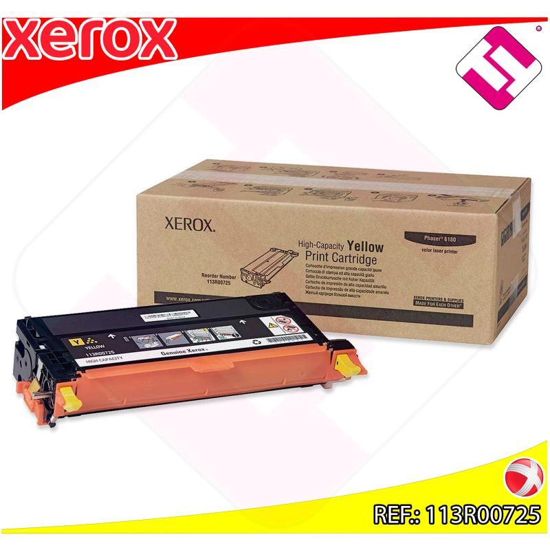 XEROX TONER LASER AMARILLO 6.000 PAGINAS PHASER/6180