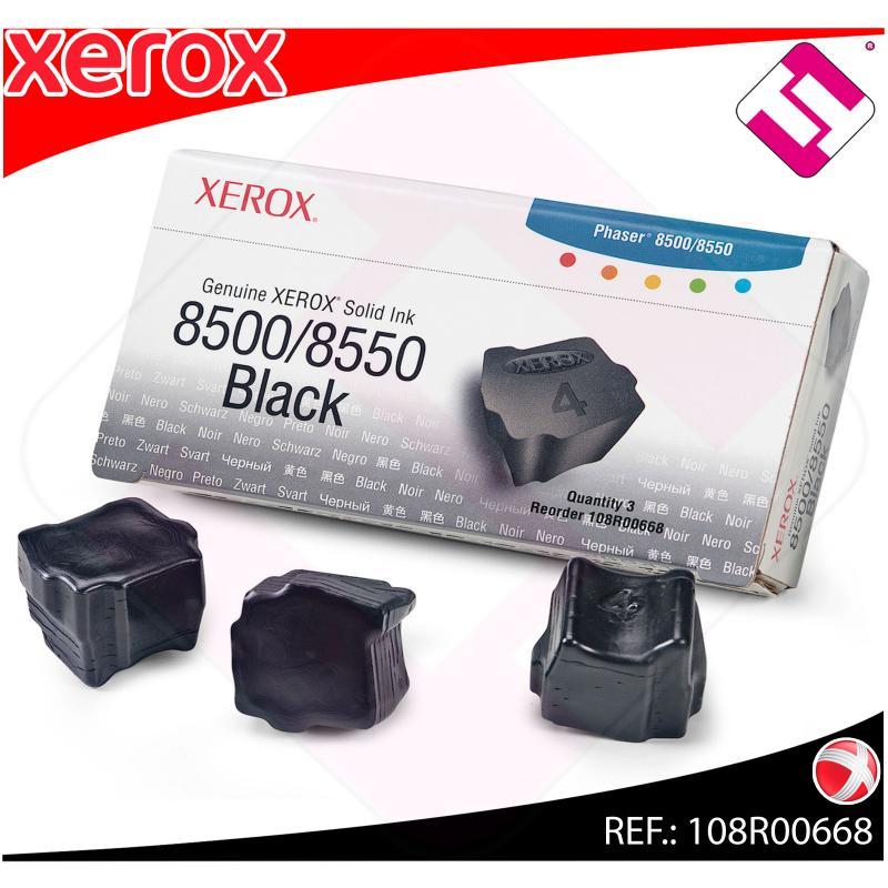 XEROX CARTUCHO TINTA SOLIDA NEGRO 3 BARRAS PHASER/8500/8550